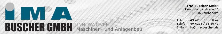 IMA Buscher - Maschinenbau und Anlagenbau